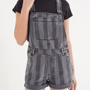 Urban Outfitters Striped Short Overalls!